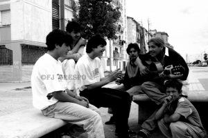 Flamenco Callejero en las calles de las 3000 Viviendas. Sevilla, 2005. Foto: FJ Crespo