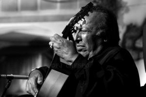 El guitarrista jerezano Francisco López-Cepero García, Paco Cepero. Paterna de la Rivera 2017. Foto: FJ Crespo
