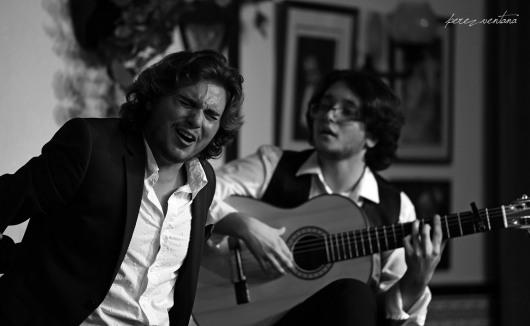 Manuel de la Tomasa y David de Arahal. Peña Flamenca Torres Macarena, Sevilla. Junio 2020. Foto: perezventana