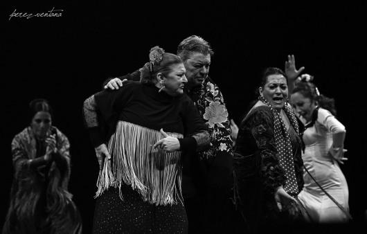 Eva Yerbabuena, Milagros Mengíbar, Antonio Canales, Farruca, Rosario Toledo. Homenaje a Carmelilla Montoya. Fibes Sevilla, diciembre 2019. Foto: perezventana