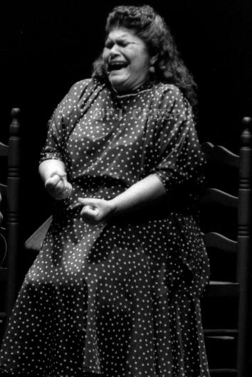 La lebrijana Inés Bacán. Bienal de Flamenco de Sevilla, 1996. Foto: FJ Crespo