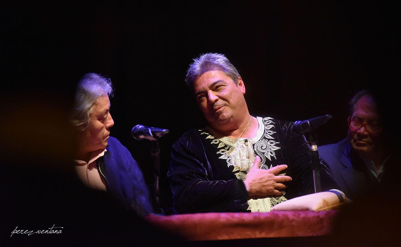 Manuel Bohórquez, Antonio Canales y Manuel Marín. Homenaje a Antonio Canales. Teatro Enrique de la Cuadra, Tacón Flamenco de Utrera. Foto: Quico Pérez-Ventana