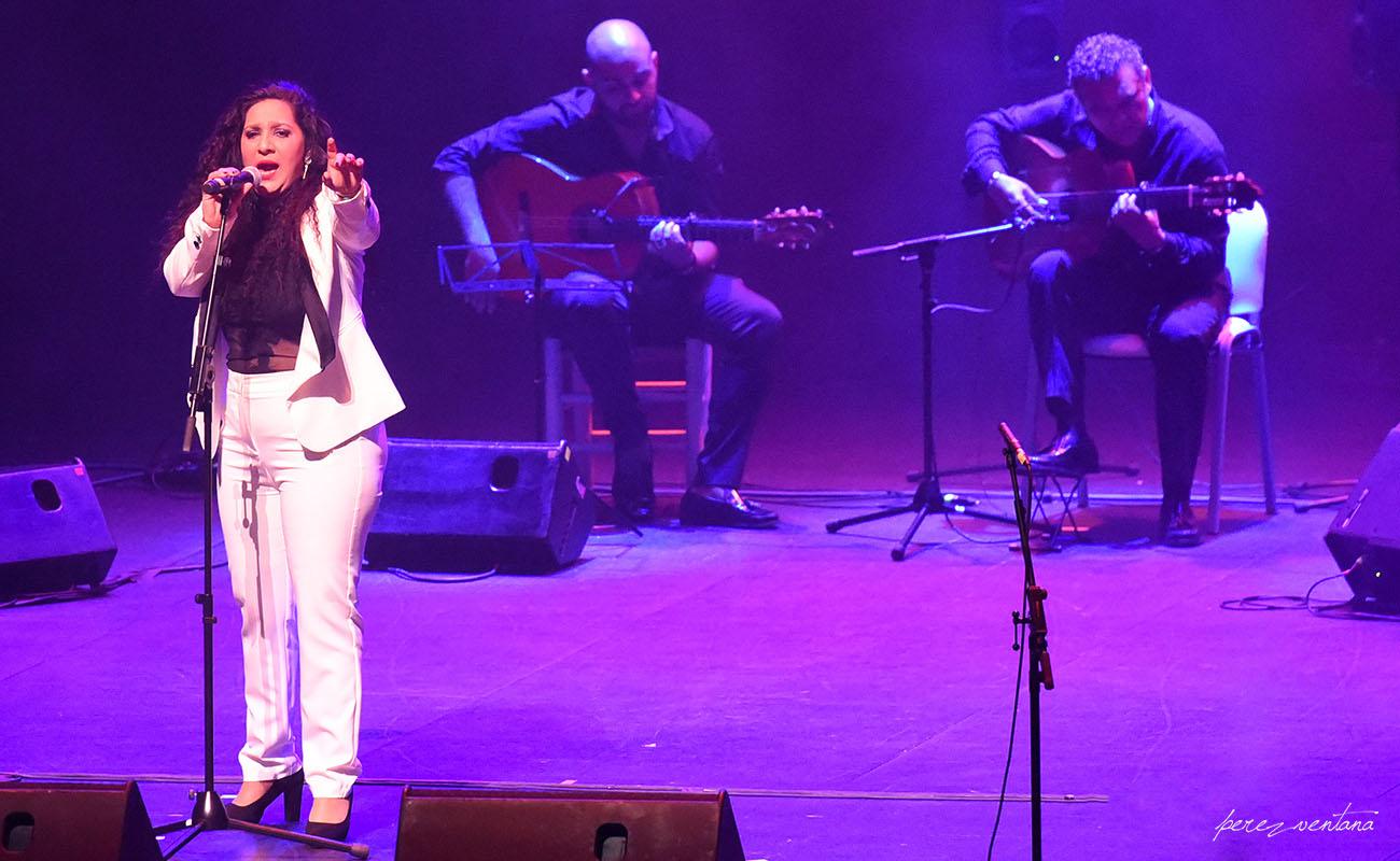 Anabel Valencia. Homenaje a El Lebrijano, 'Un gitano universal'. Cartuja Center Cite. Foto: Quico Pérez-Ventana