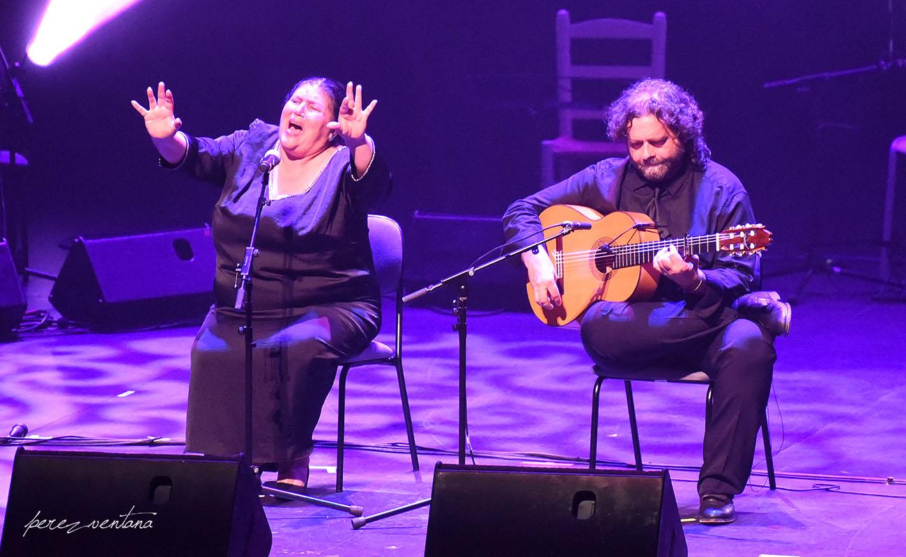 Inés Bacán. Homenaje a El Lebrijano, 'Un gitano universal'. Cartuja Center Cite. Foto: Quico Pérez-Ventana