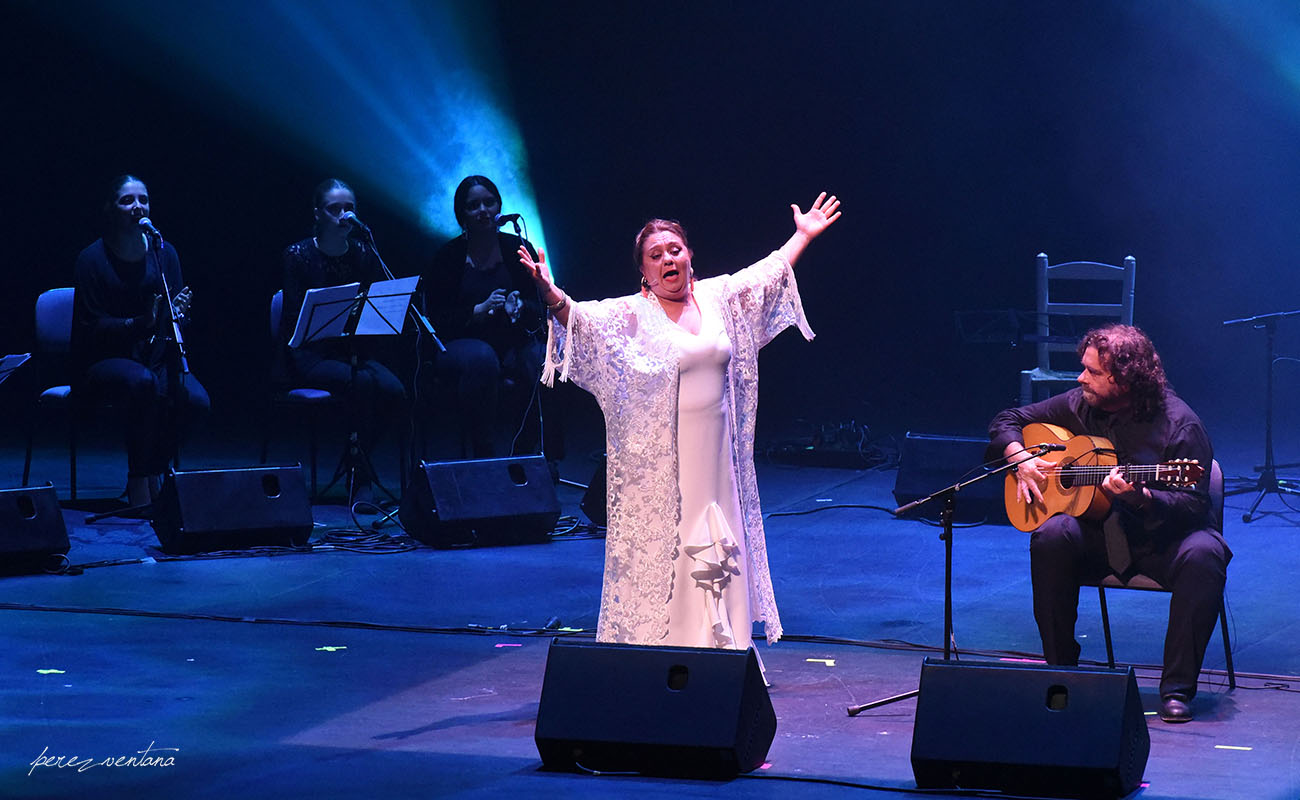 Mari Peña. Homenaje a El Lebrijano, 'Un gitano universal'. Cartuja Center Cite. Foto: Quico Pérez-Ventana