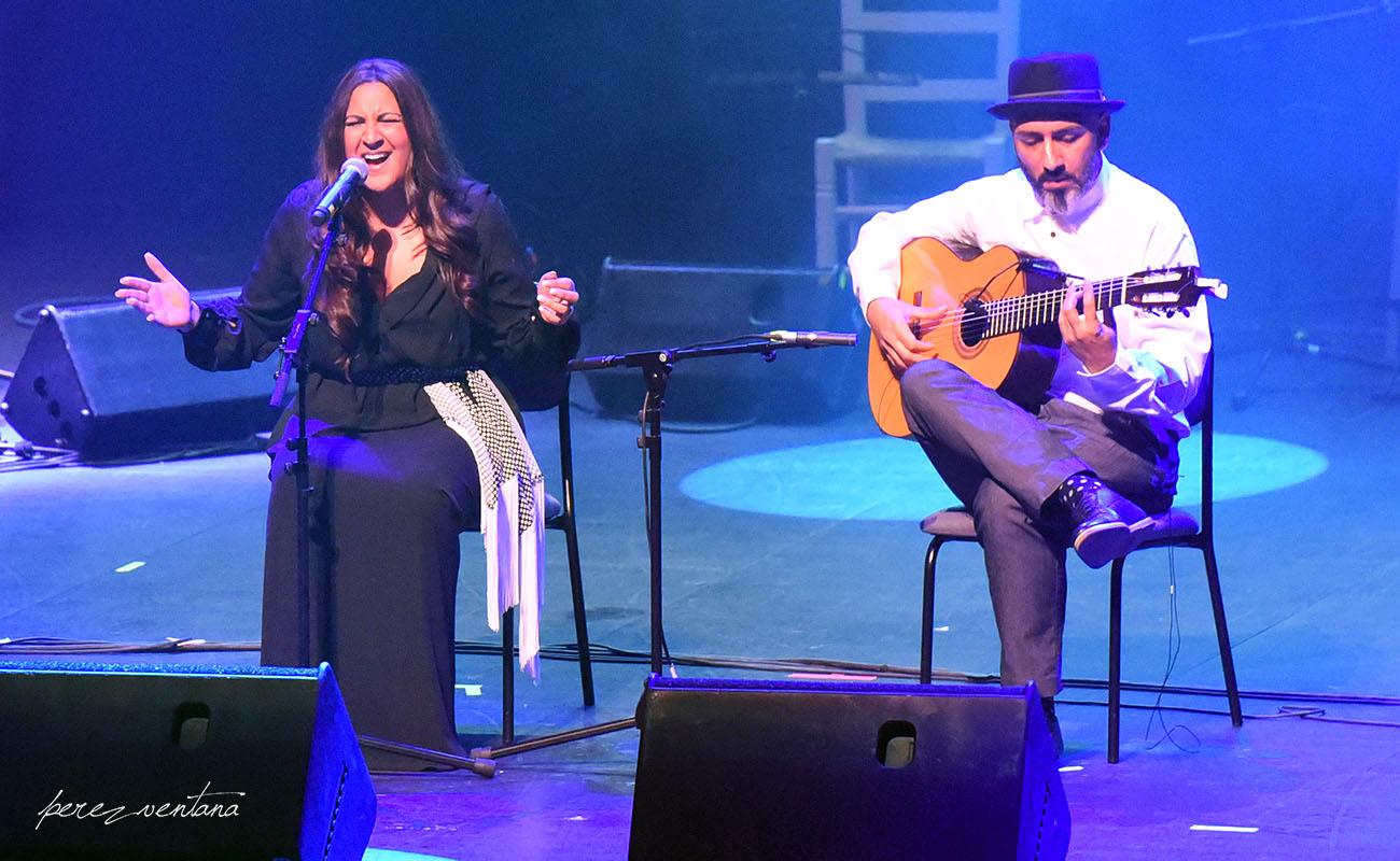Lela Soto y Rycardo Moreno. Homenaje a El Lebrijano, 'Un gitano universal'. Cartuja Center Cite. Foto: Quico Pérez-Ventana