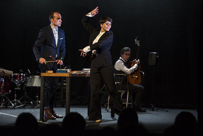 El trío Leonor Leal, Antonio Moreno y Alfredo Lagos. Festival de Jerez 2019. Foto: Javier Fergo
