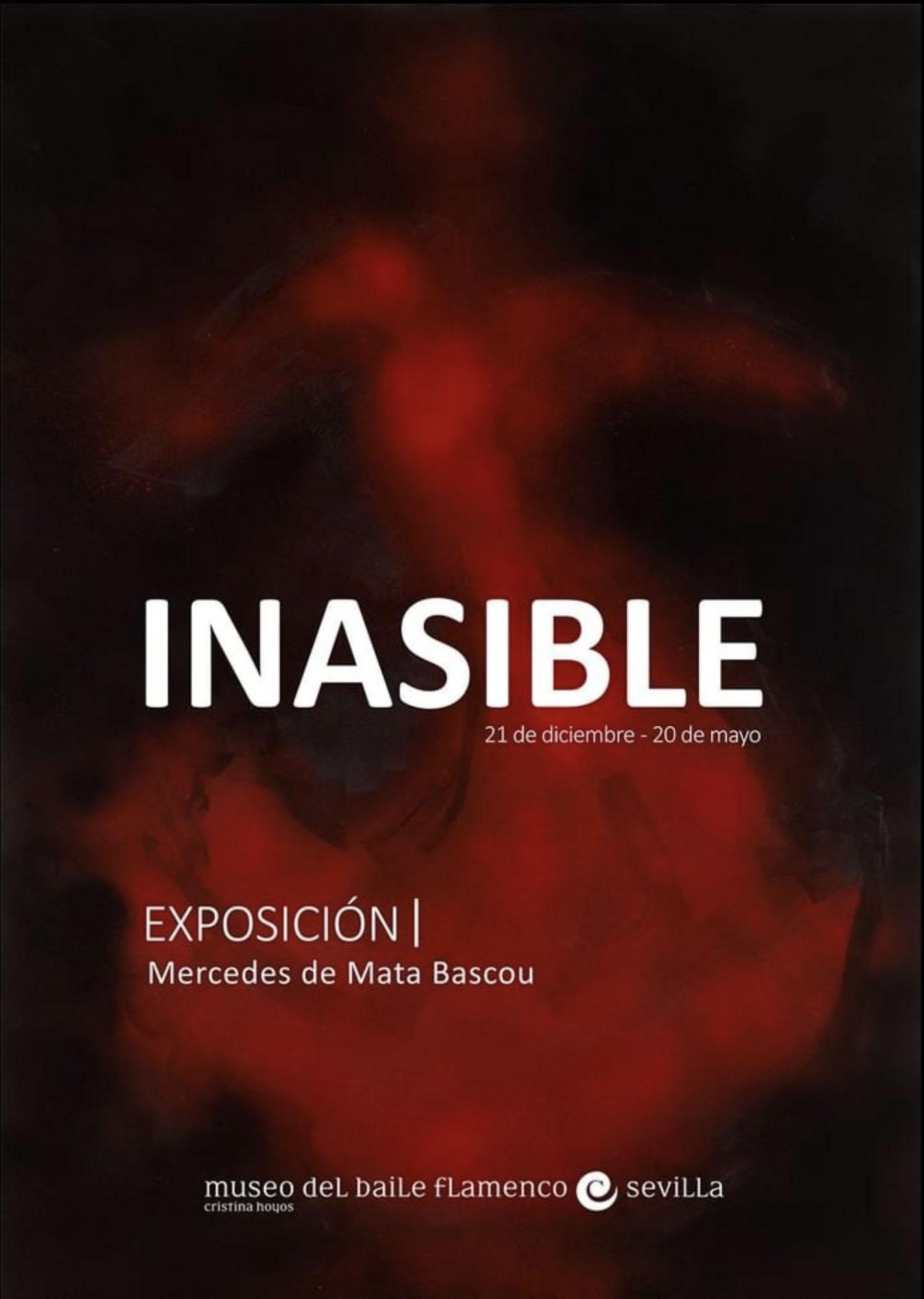 Cartel de la colección 'Inasible' de Mercedes de Mata en el Museo del Baile Flamenco, Sevilla.