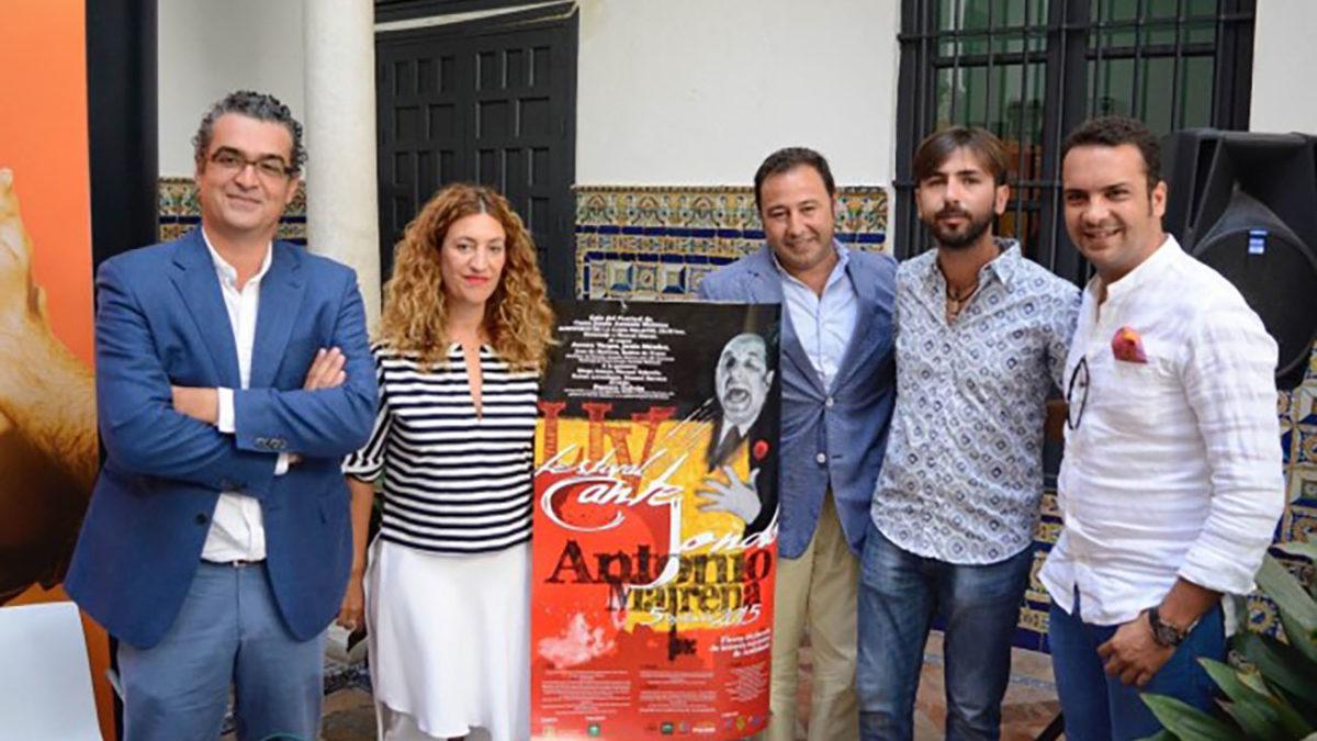 María Ángeles Carrasco, durante la presentación del LIV Festival de Cante Jondo Antonio Mairena. Foto: El Correo de Andalucía