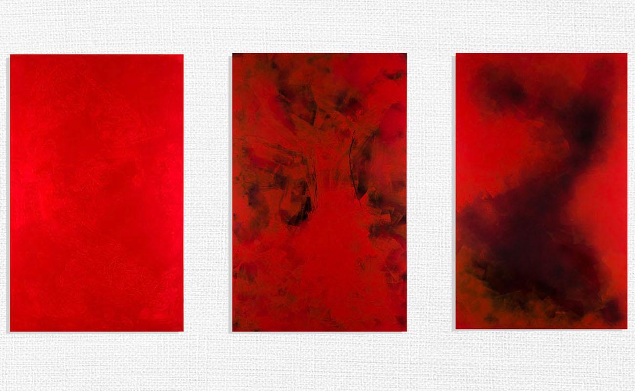 Serie Rojo y Negro. Colección 'Inasible' de Mercedes de Mata.