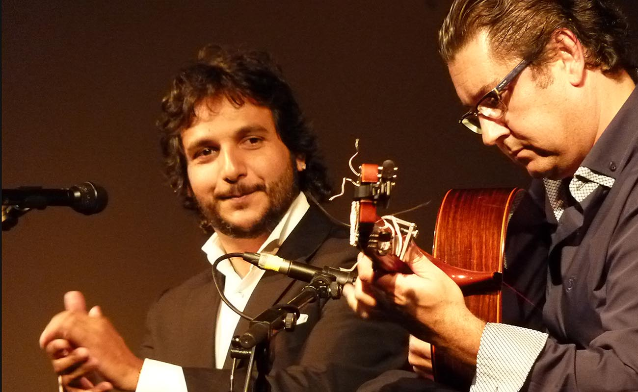 Antonio Reyes y Antonio Higuero. Festival de La Puebla. Foto: Estela Zatania.