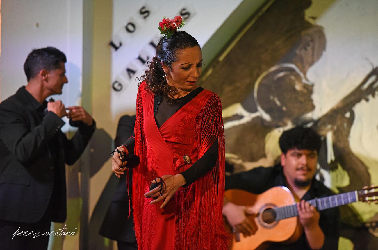 La bailaora Rosario Toledo. Espectáculo 'Guitarra, cante y baile flamencos' en el Tablao Los Gallos, Sevilla. Foto: Quico Pérez-Ventana