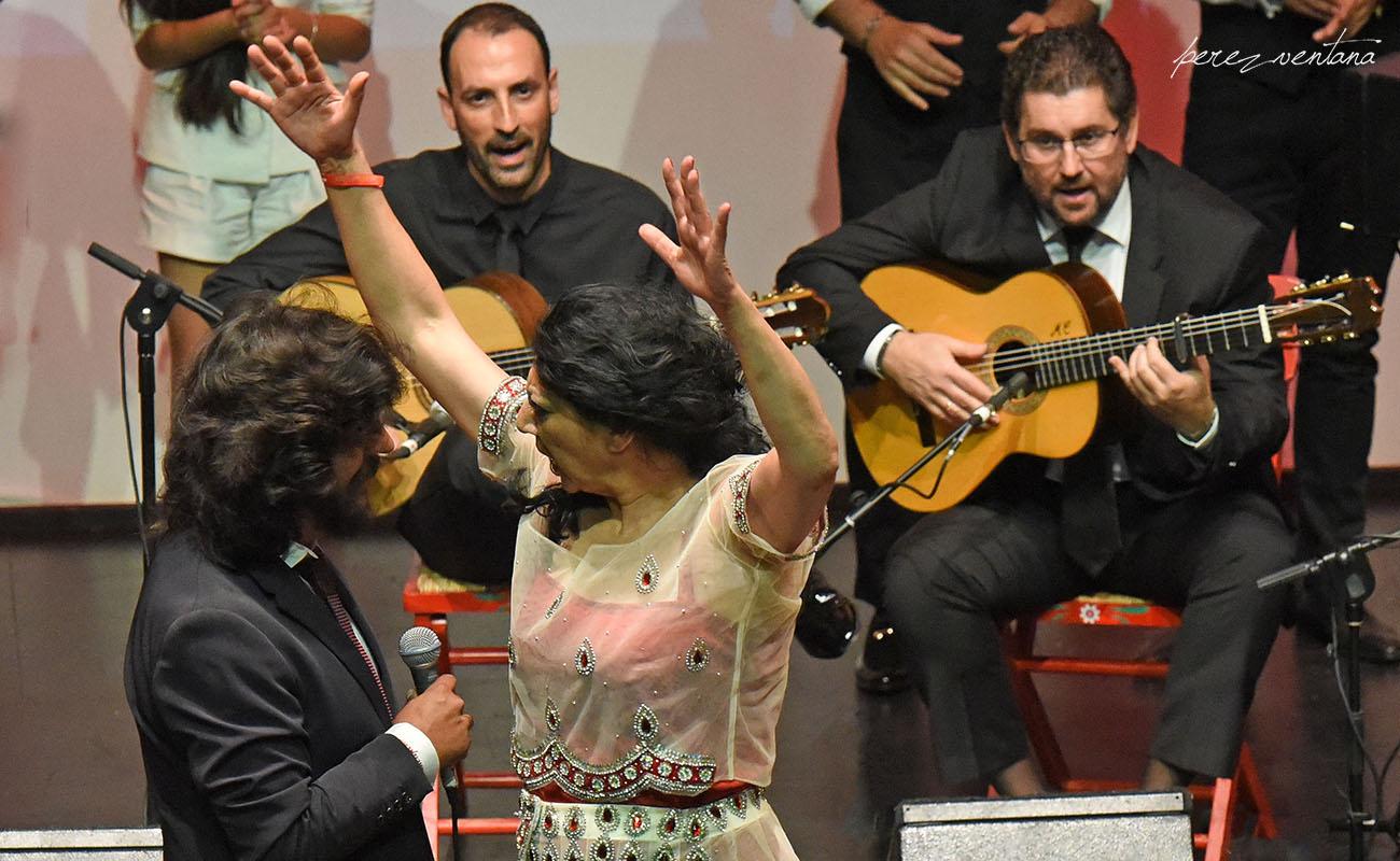 Al frente, Manuela Carrasco y Rancapino Chico. Gala XXXII Compás del Cante, Box Cartuja. 29 Mayo 2019. Foto: Quico Pérez-Ventana