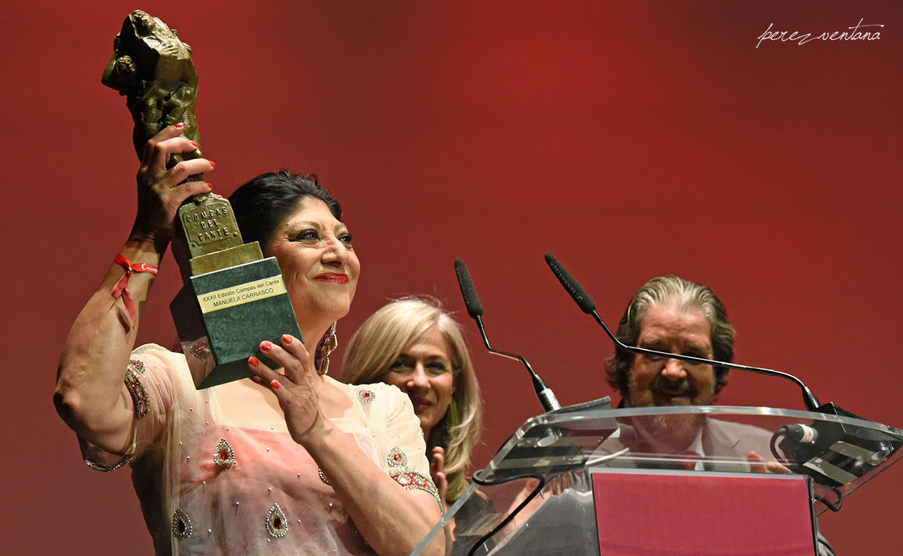 La bailaora Manuela Carrasco. Gala XXXII Compás del Cante, Box Cartuja. 29 Mayo 2019. Foto: Quico Pérez-Ventana