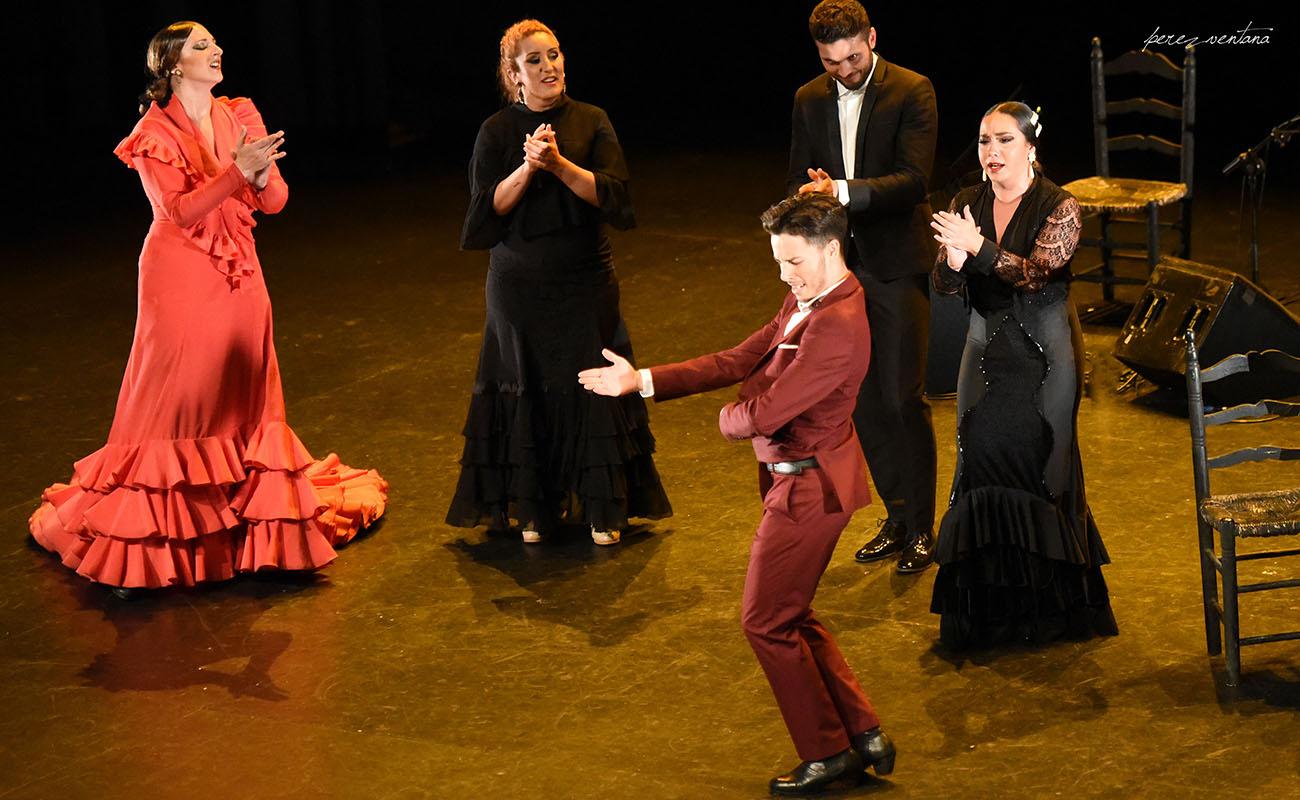 El bailaor Juan Tomás de la Molía. Gala de Ganadores del concurso Talento Flamenco, Fundación Cristina Heeren. Ciclo Flamenco Viene del Sur. Teatro Central, Sevilla. Foto: Quico Pérez-Ventana
