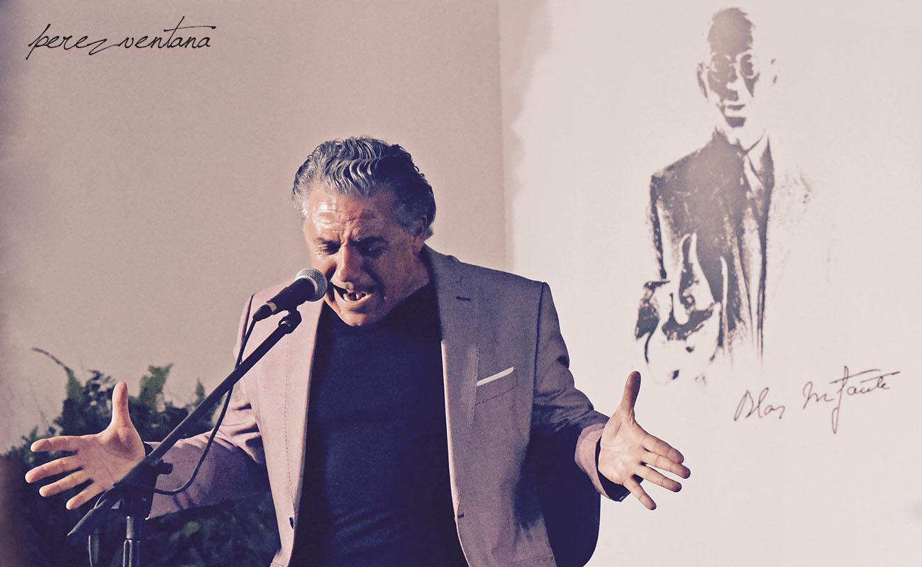 El cantaor Segundo Falcón. Ciclo Conocer el flamenco, Fundación Blas Infante (Sevilla). Foto: Quico Pérez-Ventana