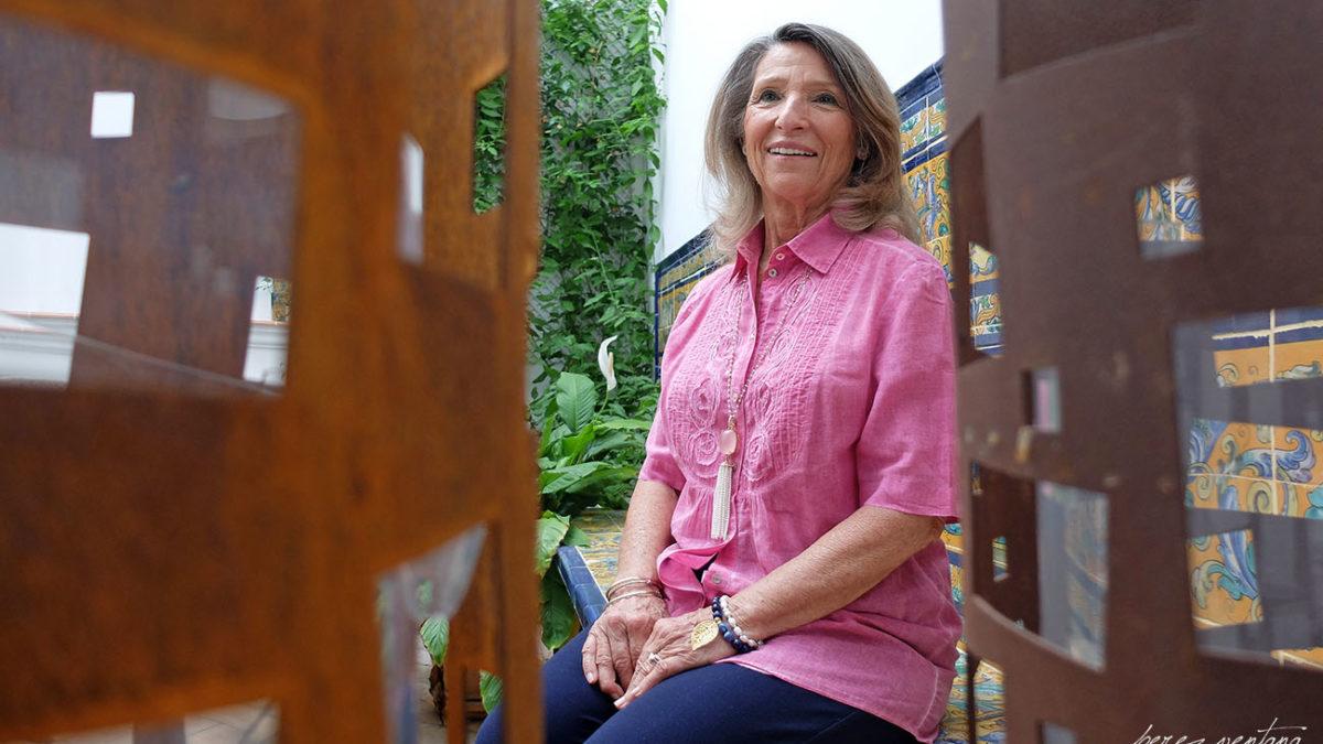 Cristina Heeren, en un patio de la sede de su Fundación. Foto: Quico Pérez-Ventana