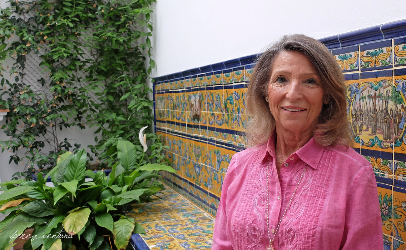 Cristina Heeren, in a courtyard at the headquarters of her Foundation. Photo: Quico Pérez-Ventana