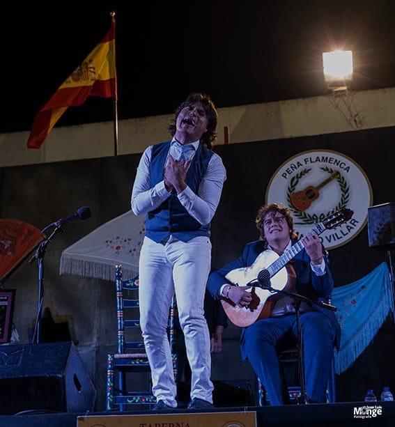 Samuel Serrano y Paco León. Clausura XXXV Encuentros Flamencos. Peña Flamenca Juanito Villar. Cádiz. 5 julio 2019. Foto: Juan Luis Monge