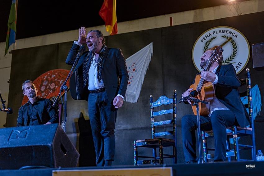 Pedro el Granaíno y Antonio Patrocinio hijo. Clausura XXXV Encuentros Flamencos. Peña Flamenca Juanito Villar. Cádiz. 5 julio 2019. Foto: Juan Luis Monge