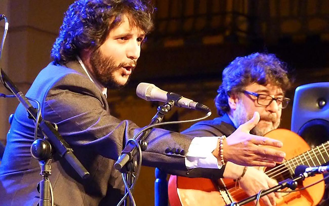 Antonio Reyes y Manuel Parrilla. Festival Gazpacho Andaluz 2019, Morón de la Frontera (Sevilla). Foto: Estela Zatania