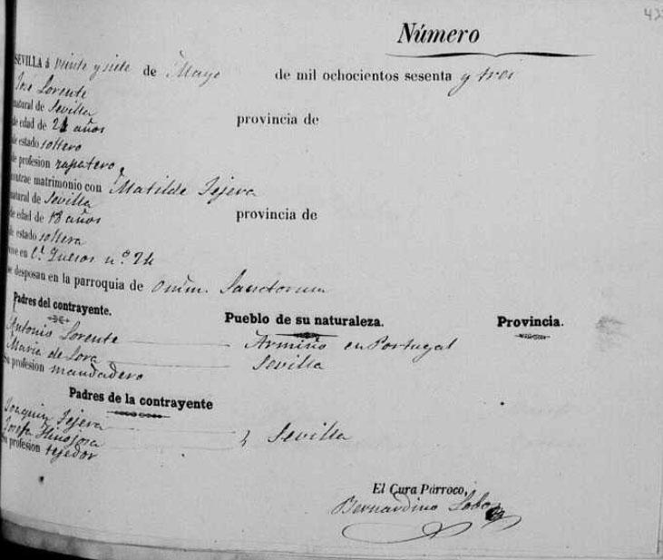 Registro de boda de José Lorente. Foto: Manuel Bohórquez
