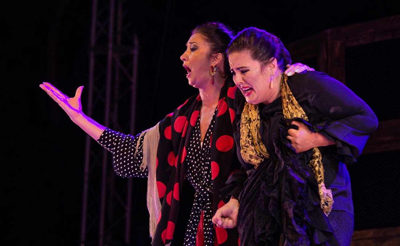 María del Mar Moreno y La Fabi. 'Mujeres de cal y cante'. 52ª Fiesta de la bulería de Jerez. Foto: Manu García