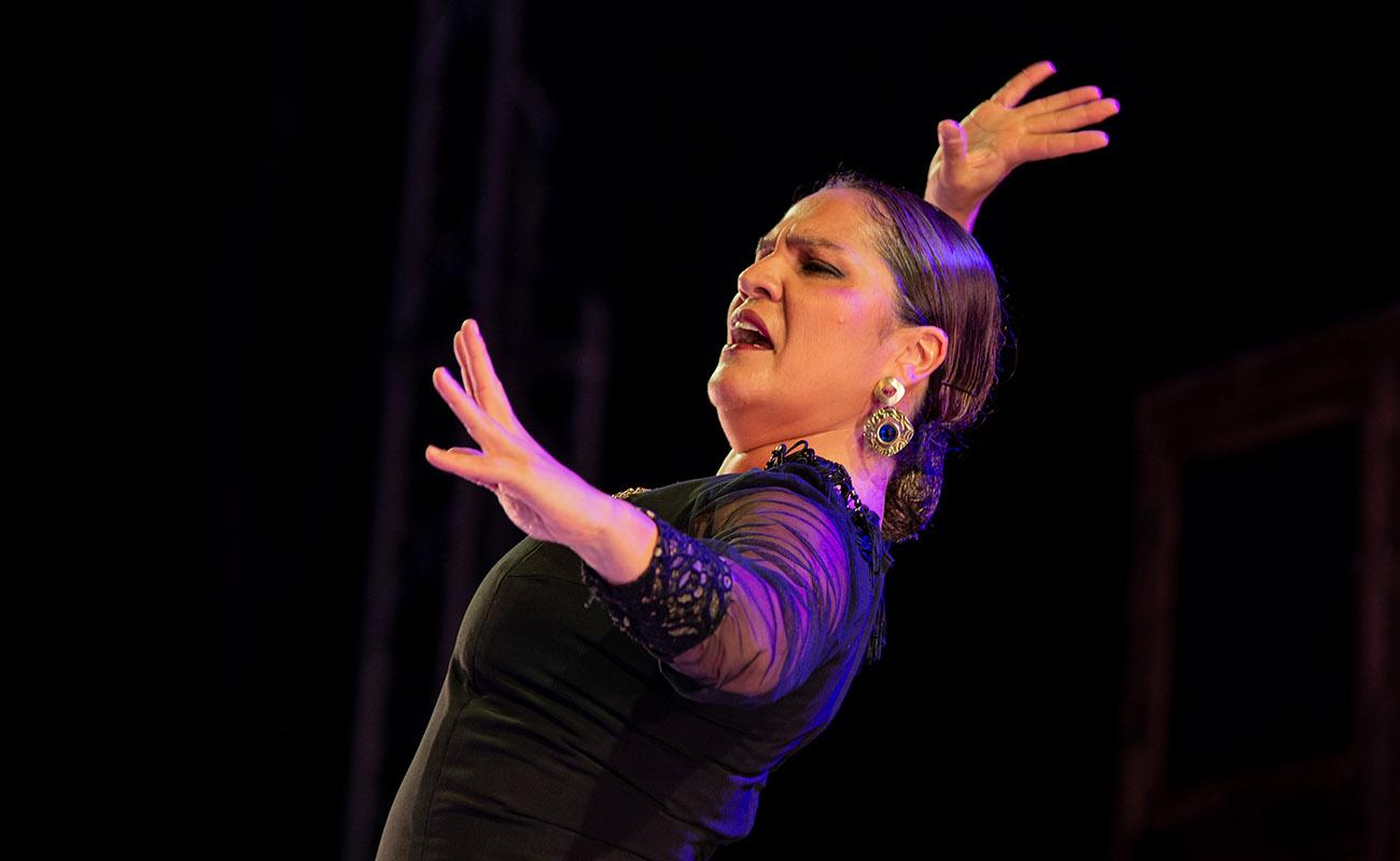 Soraya Clavijo. 'Mujeres de cal y cante'. 52ª Fiesta de la bulería de Jerez. Foto: Manu García