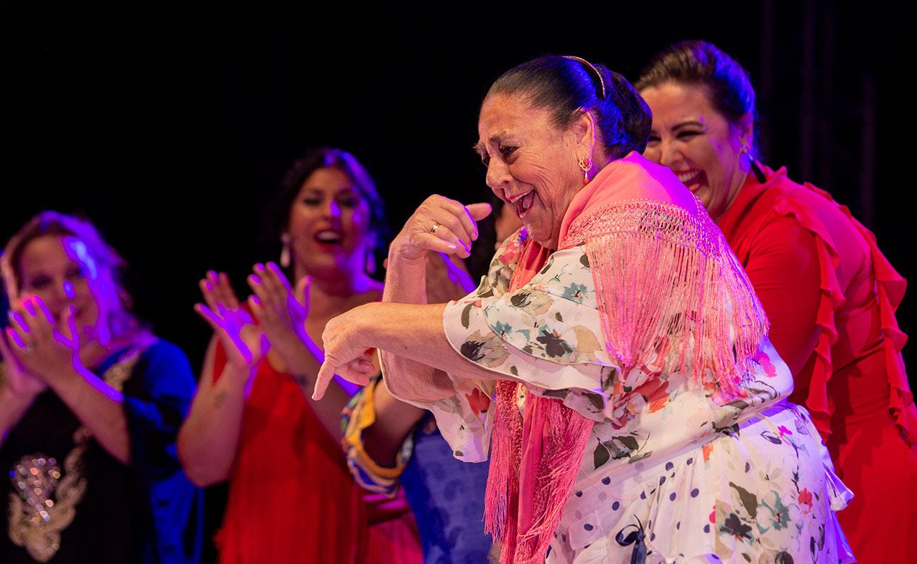 Tía Churra. 'Mujeres de cal y cante'. 52ª Fiesta de la bulería de Jerez. Foto: Manu García