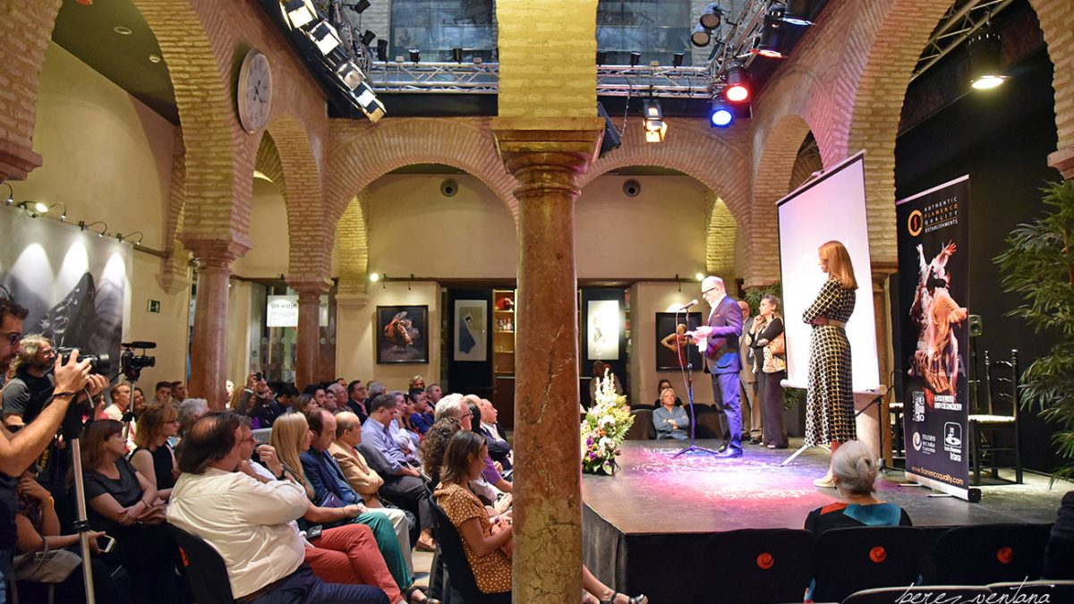 Presentación de la alianza «Authentic Flamenco Quality Establishments» en el Museo del Baile Flamenco. 8 octubre 2019. Foto: perezventana