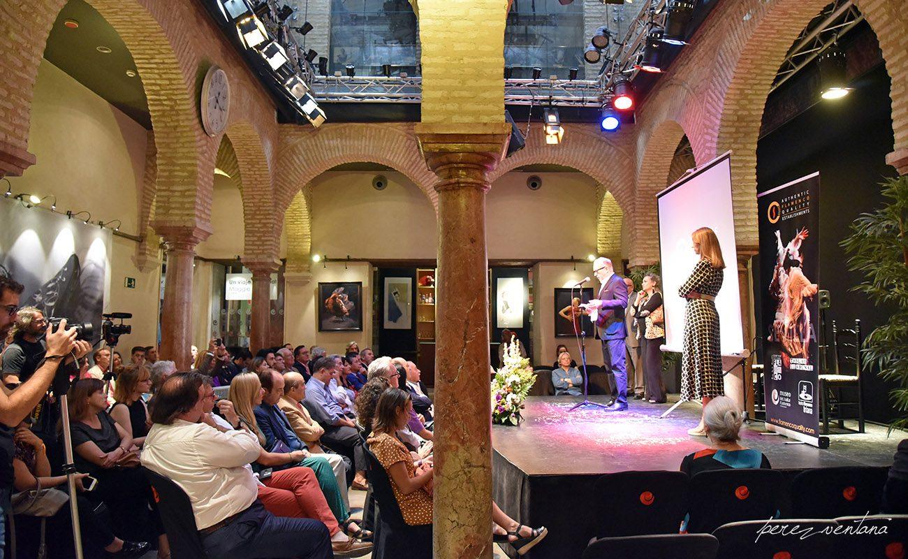 Presentación de la alianza «Authentic Flamenco Quality Establishments» en el Museo del Baile Flamenco. 8 octubre 2019. Foto: perezventana