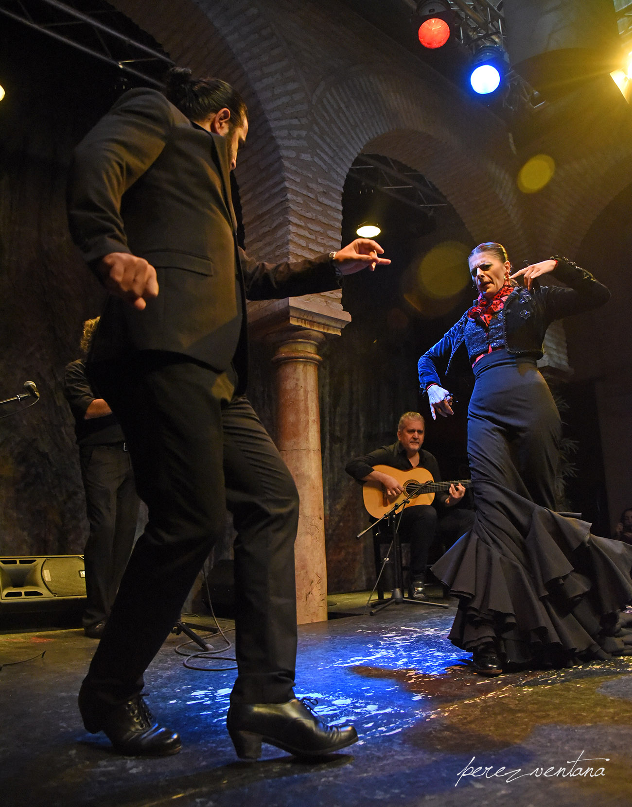 Los bailaores Rocío Alcaide y El Choro. Presentación de la alianza «Authentic Flamenco Quality Establishments» en el Museo del Baile Flamenco. 8 octubre 2019. Foto: perezventana