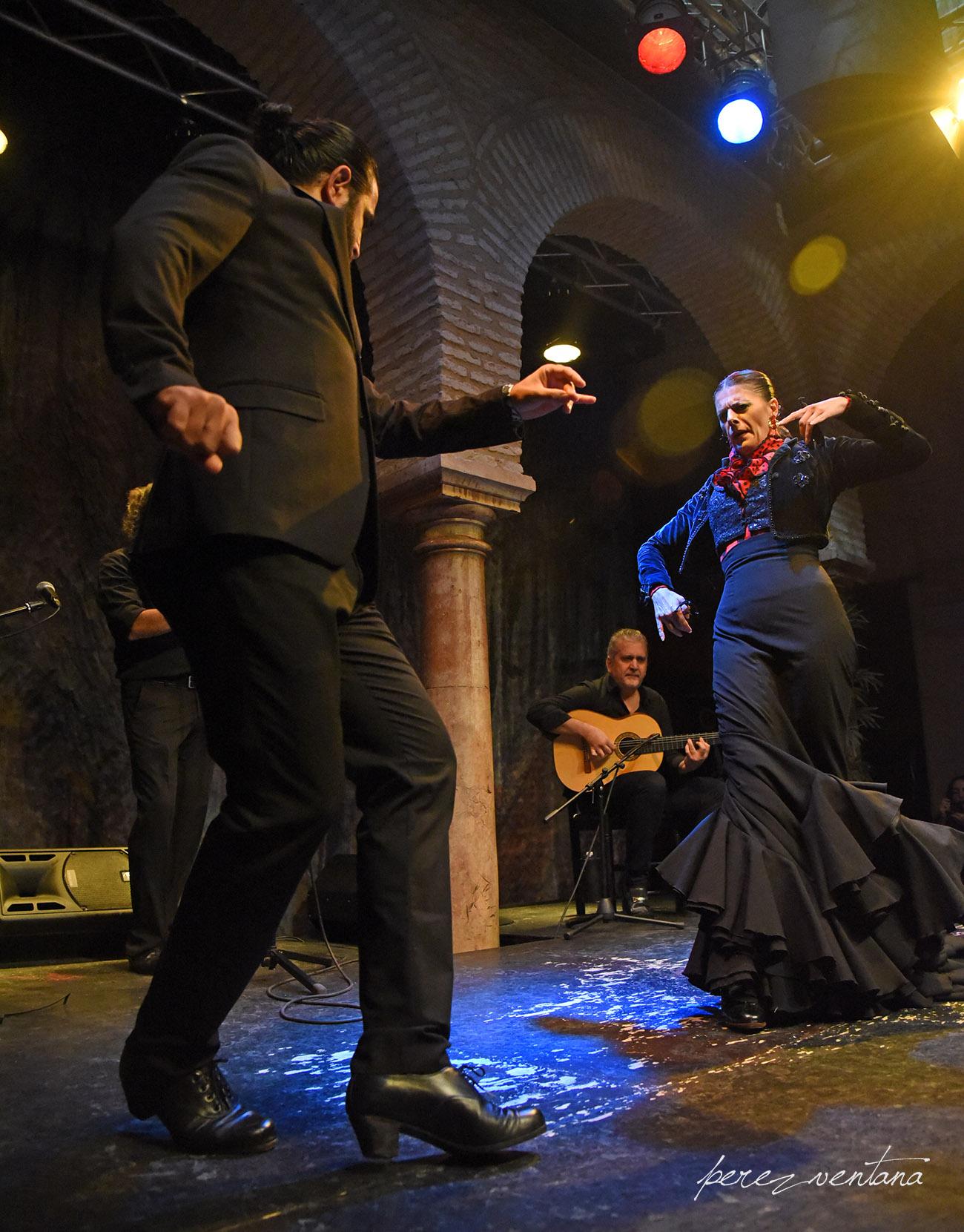 Los bailaores Rocío Alcaide y El Choro. Presentación de la alianza «Authentic Flamenco Quality Establishments» en el Museo del Baile Flamenco. 8 octubre 2019. Foto: perezventana