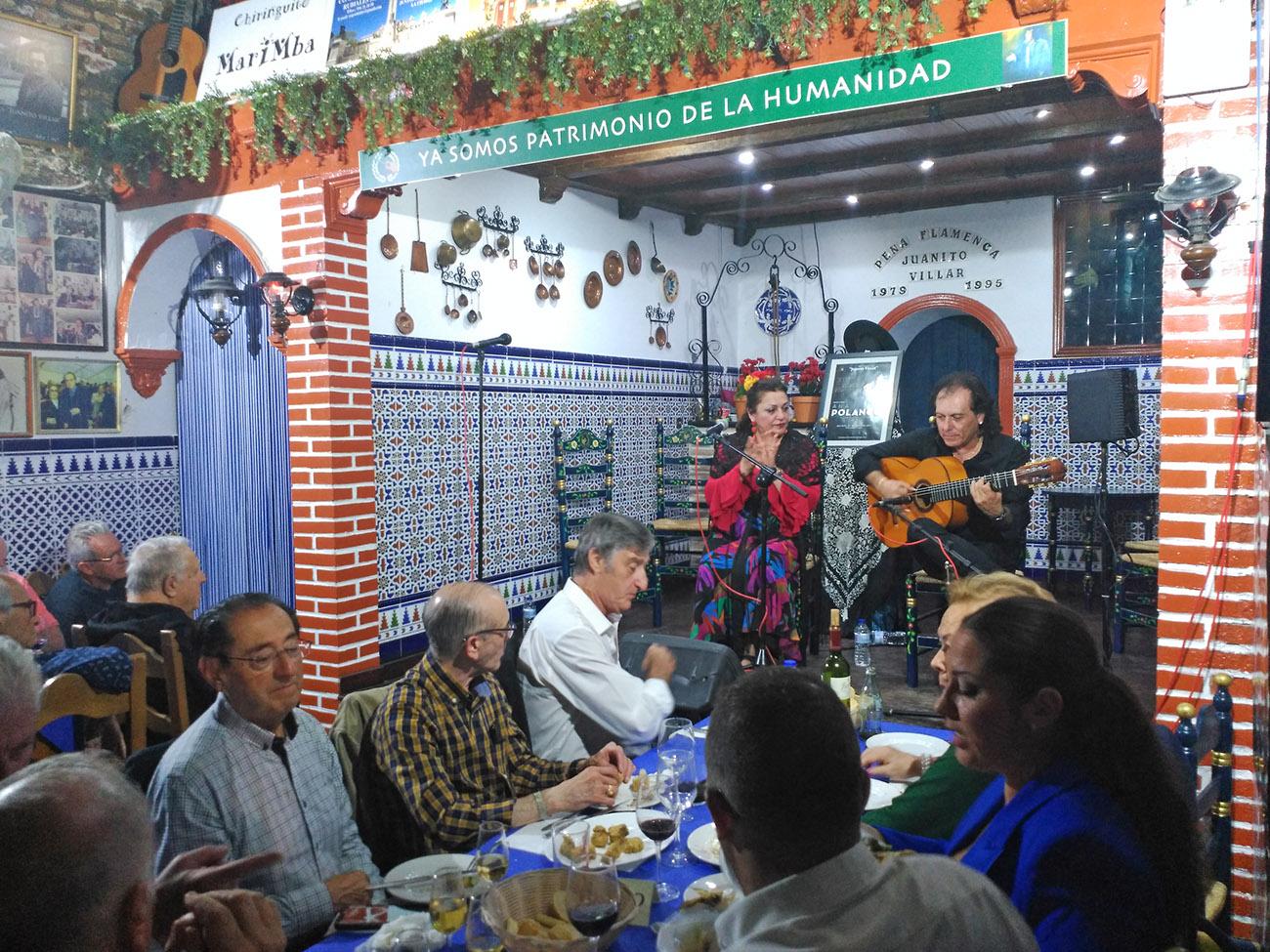 Carmen de la Jara y Antonio Carrión. XIII Ciclo Dedicado a la Mujer Gaditana en el Flamenco 2019. Peña Flamenca Juanito Villar, Cádiz. Foto: Luis Pérez