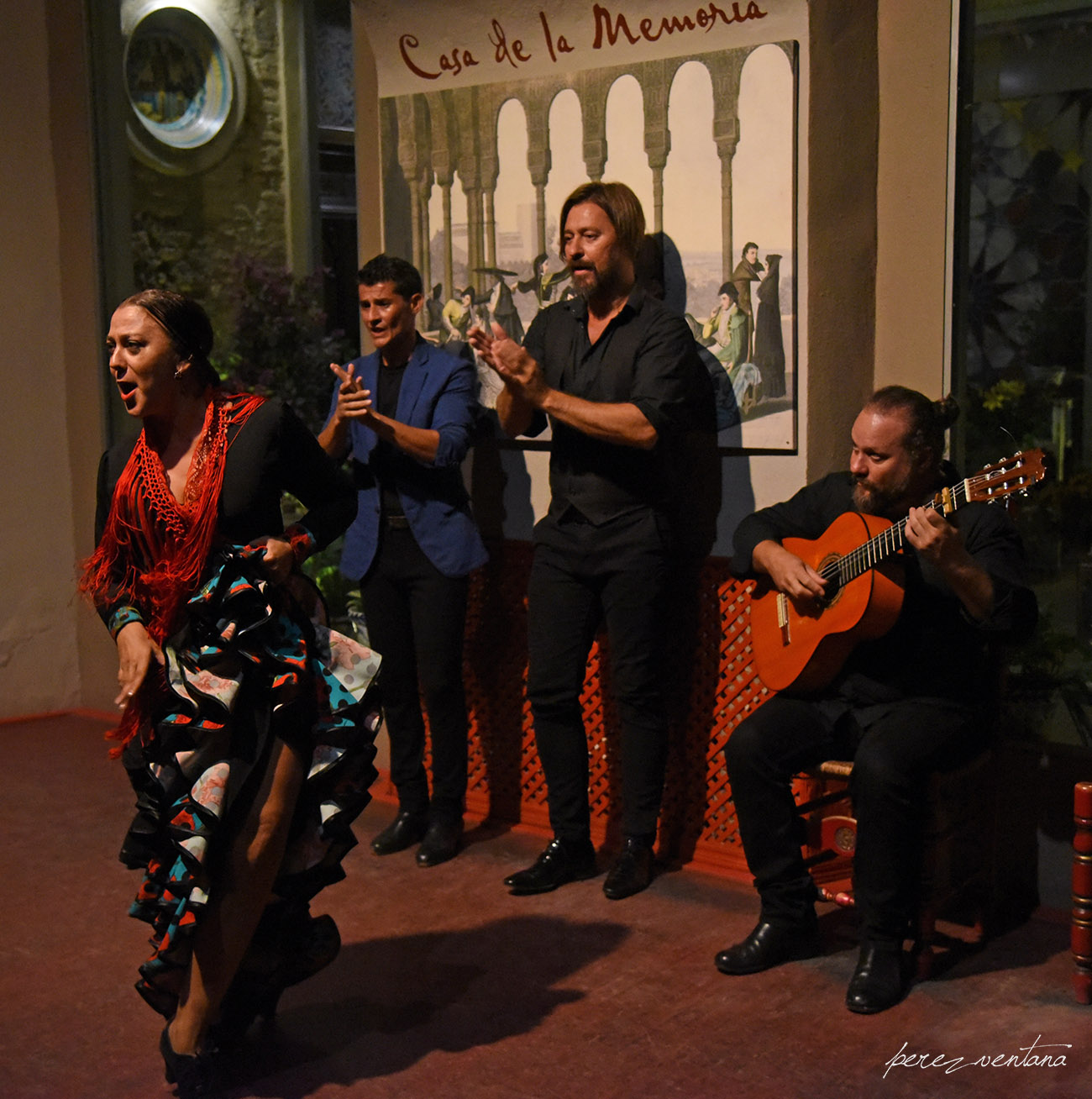 Al baile, Asunción Pérez Choni. Semblanza Flamenca. Casa de la Memoria, Sevilla. Foto: Quico Pérez-Ventana