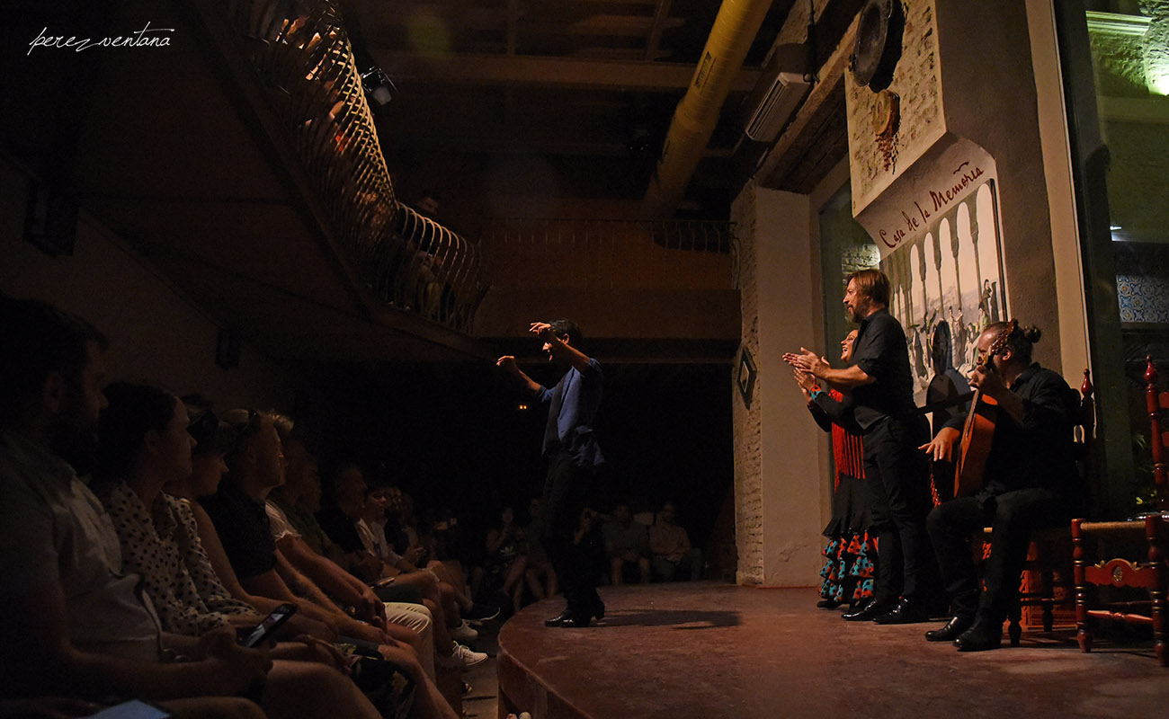 Al baile, Rafael Campallo. Semblanza Flamenca. Casa de la Memoria, Sevilla. Foto: Quico Pérez-Ventana