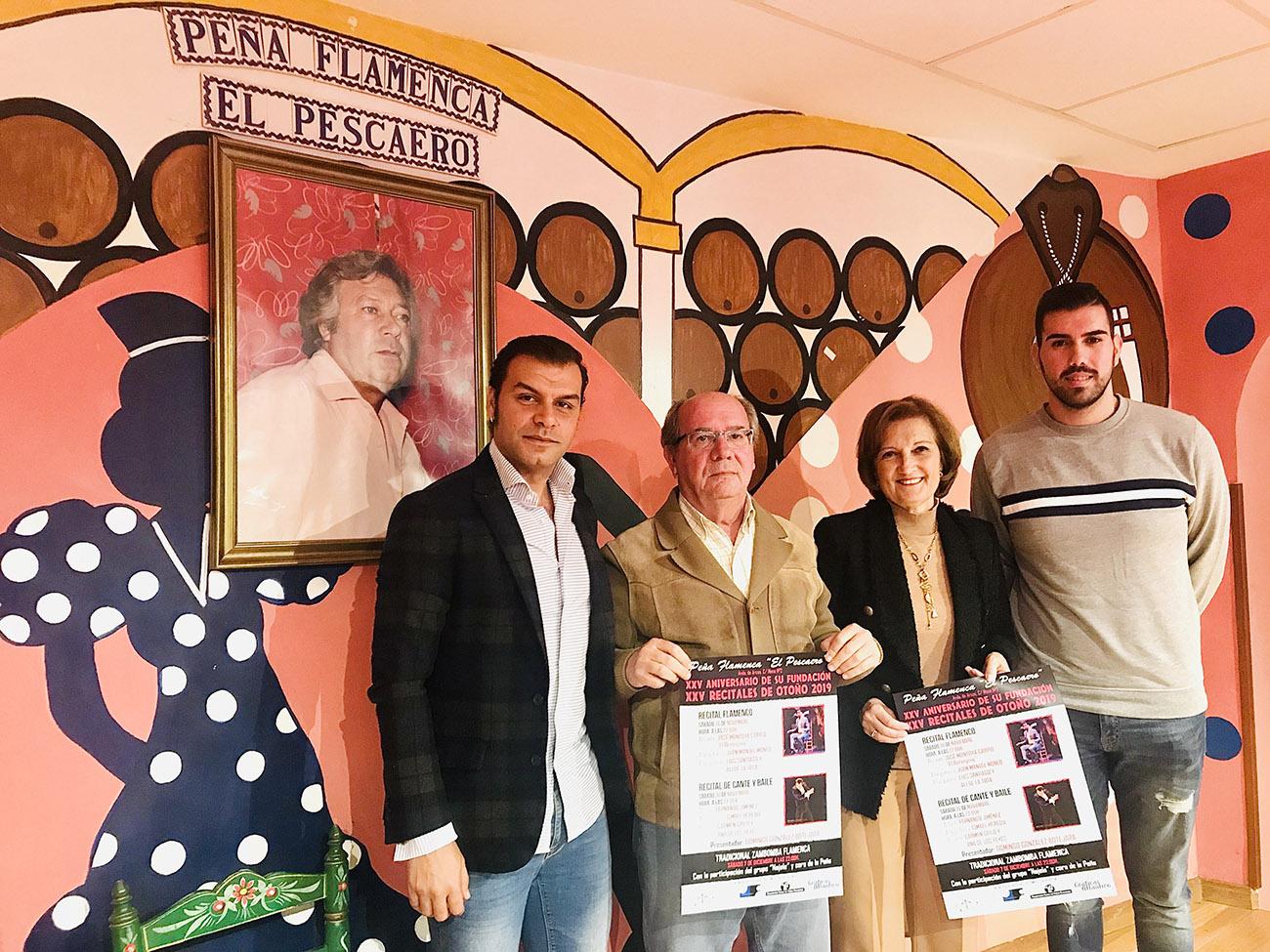 Presentación de la agenda de noviembre en la Peña Flamenca El Pescadero, Jerez. Foto: Juan Garrido