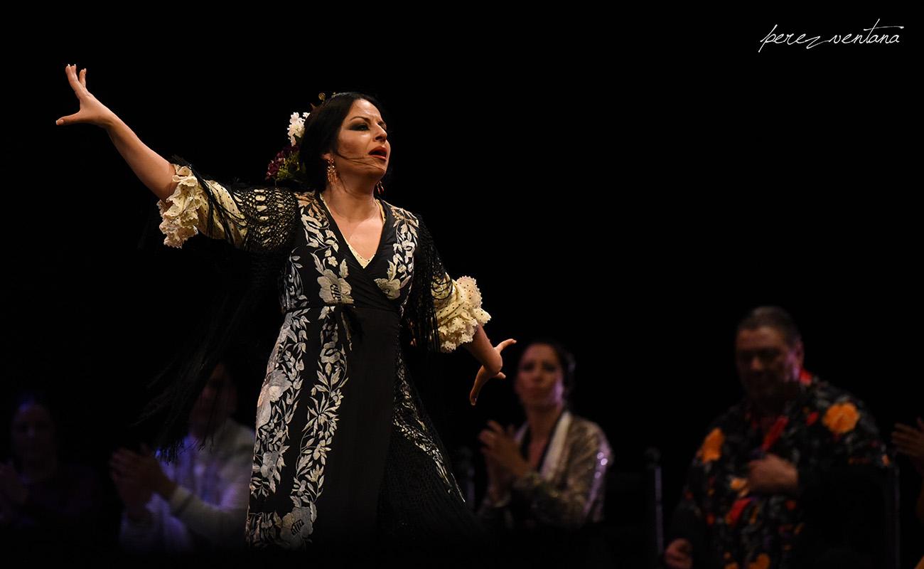 La bailaora Mercedes de Córdoba. Homenaje a Carmelilla Montoya. Fibes Sevilla, 5 diciembre 2019. Foto: perezventana
