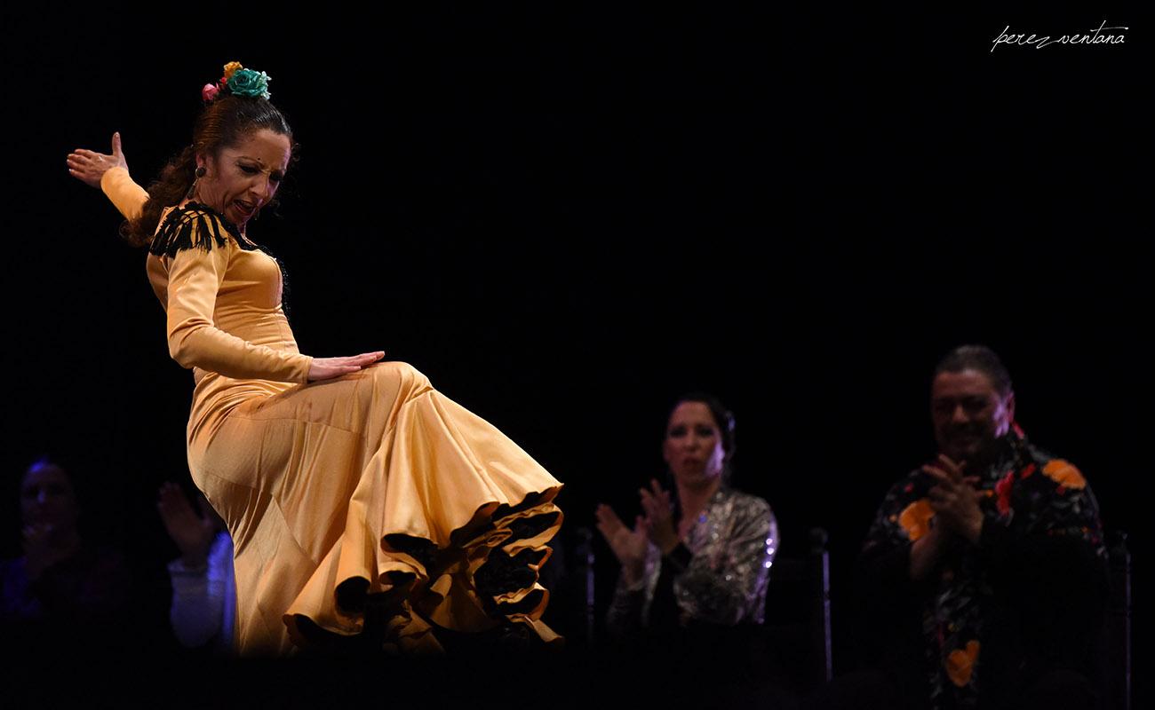 La bailaora Rosario Toledo. Homenaje a Carmelilla Montoya. Fibes Sevilla, 5 diciembre 2019. Foto: perezventana