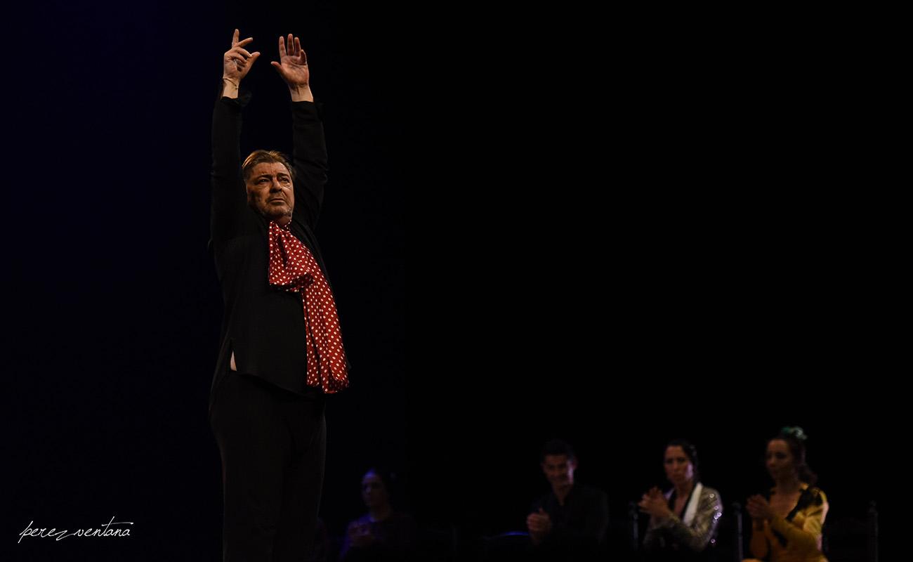 El maestro Antonio Canales. Homenaje a Carmelilla Montoya. Fibes Sevilla, 5 diciembre 2019. Foto: perezventana