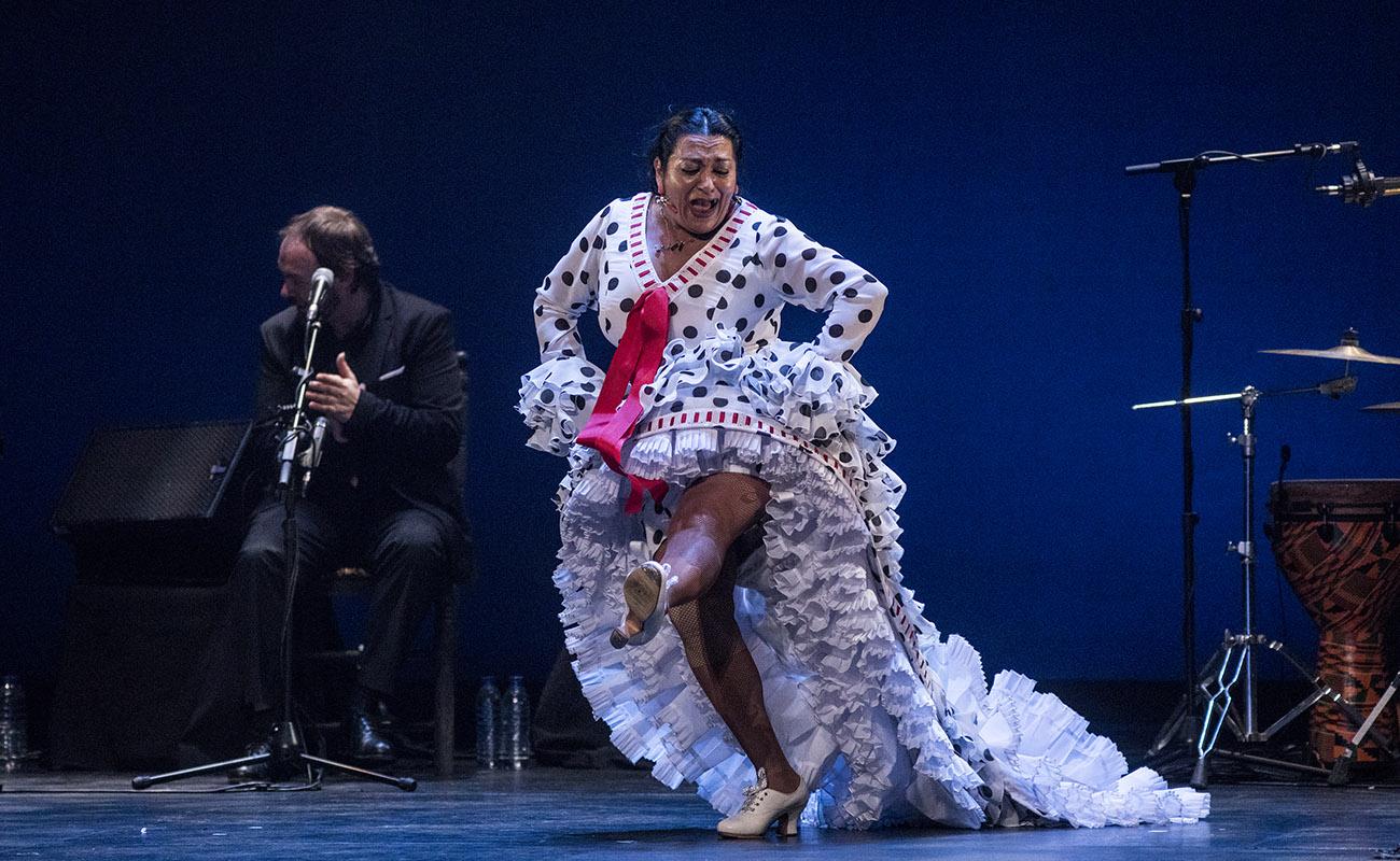 Rosario Montoya La Farruca. Teatro Villamarta, Festival de Jerez 2020. Foto: Javier Fergo
