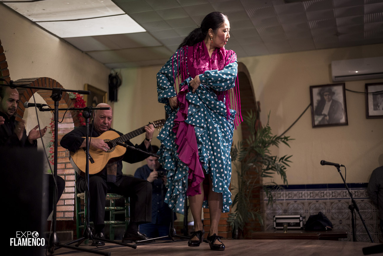 La Bailaora Harumi Hata. Homenaje a El Gómez de Jerez. Peña Los Cernícalos, Jerez. 22 febrero 2020. Foto: Guido Bartolotta