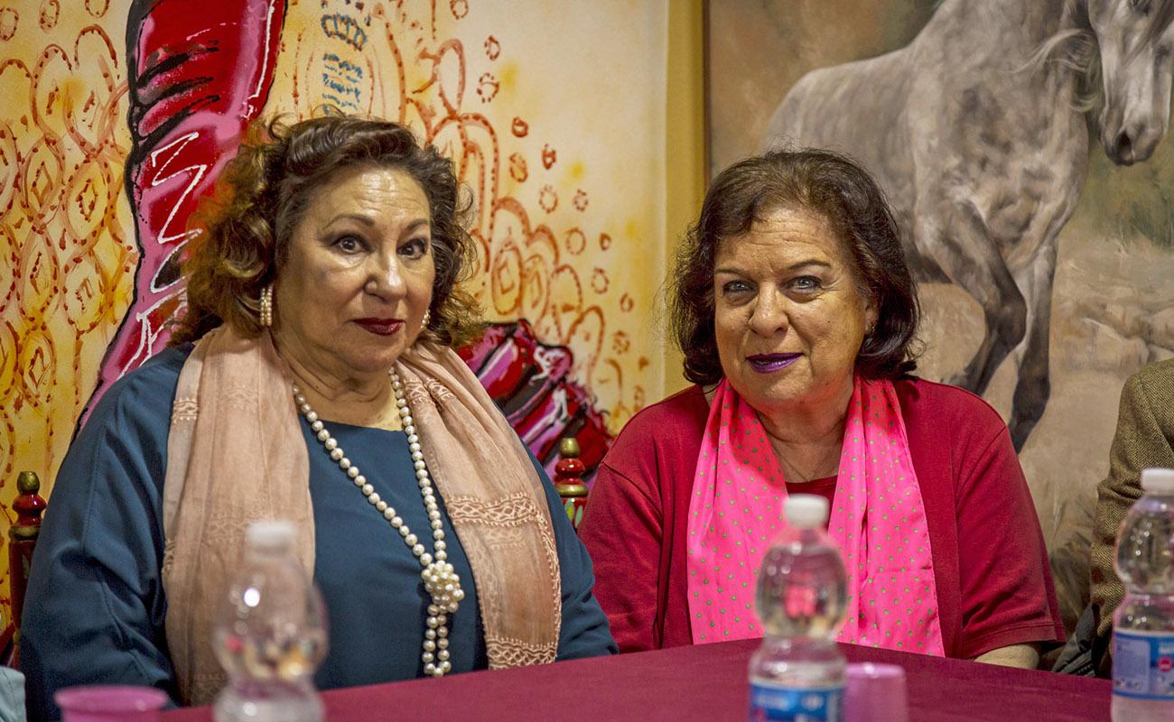 María Vargas y Estela Zatania. Mesa Redonda 'Festival de Jerez: un cuarto de siglo' ExpoFlamenco Jerez Shop, 19 feb 2020. Foto: Guido Bartolotta