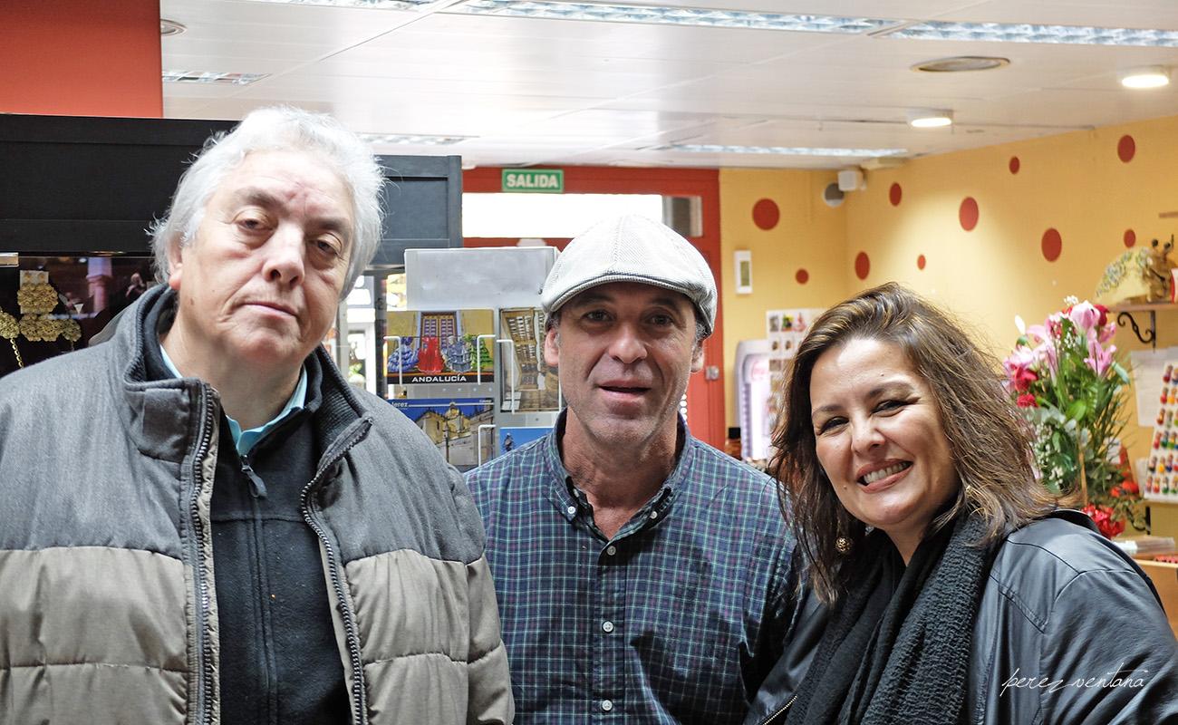 Manuel Bohórquez, Fernando González Caballos. Mesa Redonda 'Festival de Jerez: un cuarto de siglo' ExpoFlamenco Jerez Shop, 19 feb 2020. Foto: perezventana