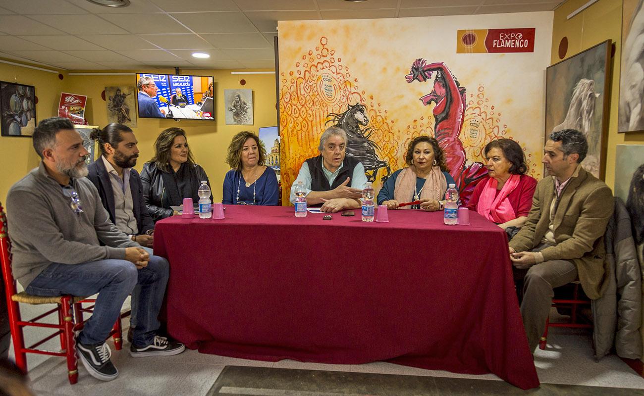 Mesa Redonda 'Festival de Jerez: un cuarto de siglo' ExpoFlamenco Jerez Shop, 19 feb 2020.
