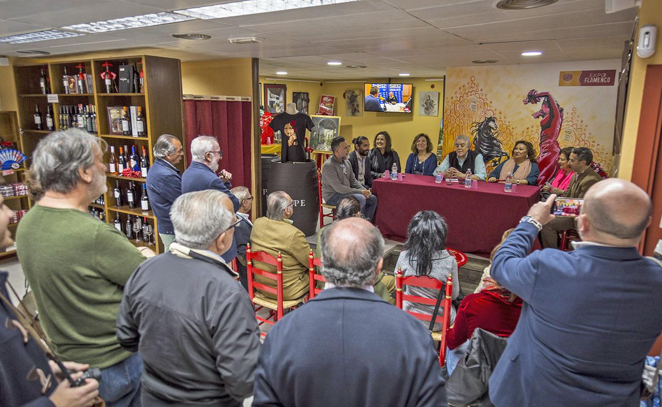 Mesa Redonda 'Festival de Jerez: un cuarto de siglo' ExpoFlamenco Jerez Shop, 19 feb 2020. Foto: Guido Bartolotta