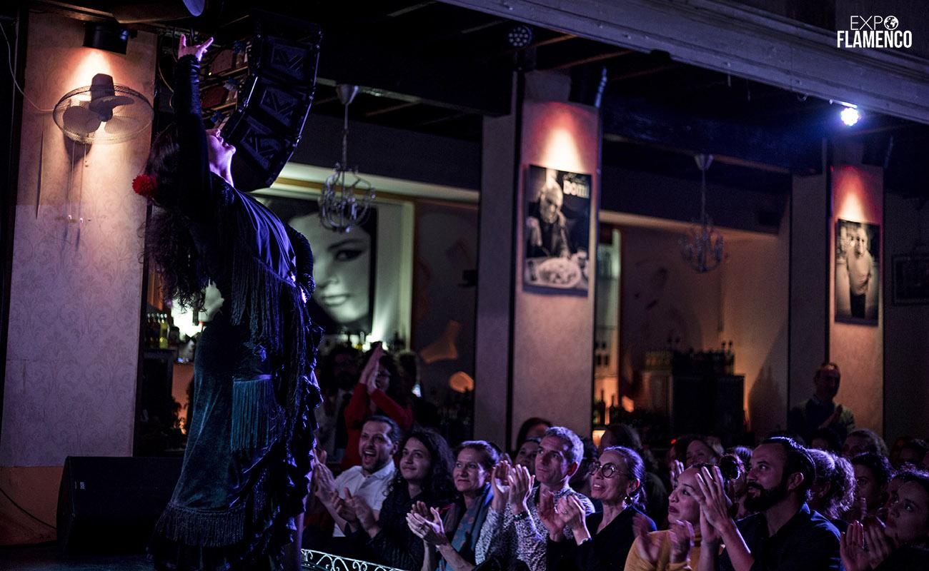 La bailaora Adela Campallo. IX Jerez Off Festival 2020. La Guarida del Ángel. Foto: Guido Bartolotta