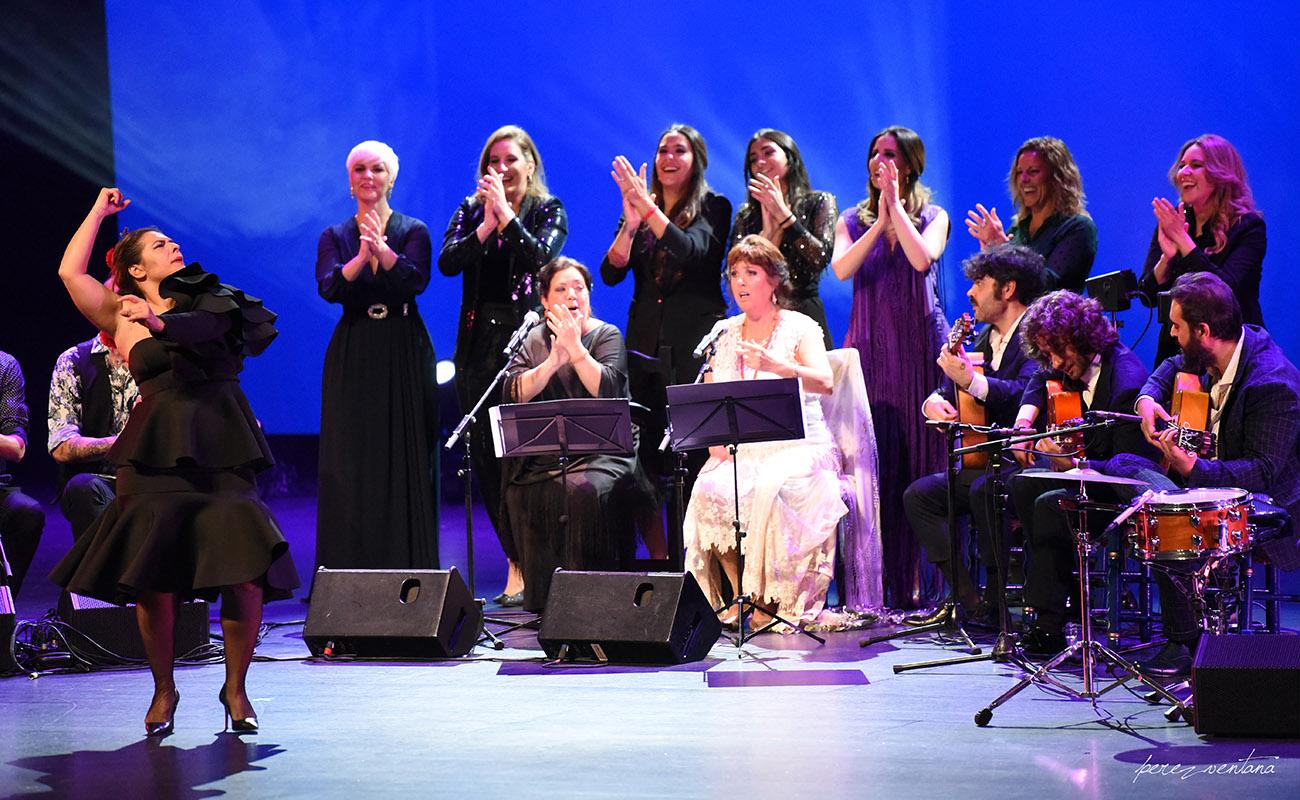Fin de fiesta con Pastora Galván. Homenaje a Lole Montoya. Cartuja Center, Sevilla. 8 marzo 2020. Foto: perezventana