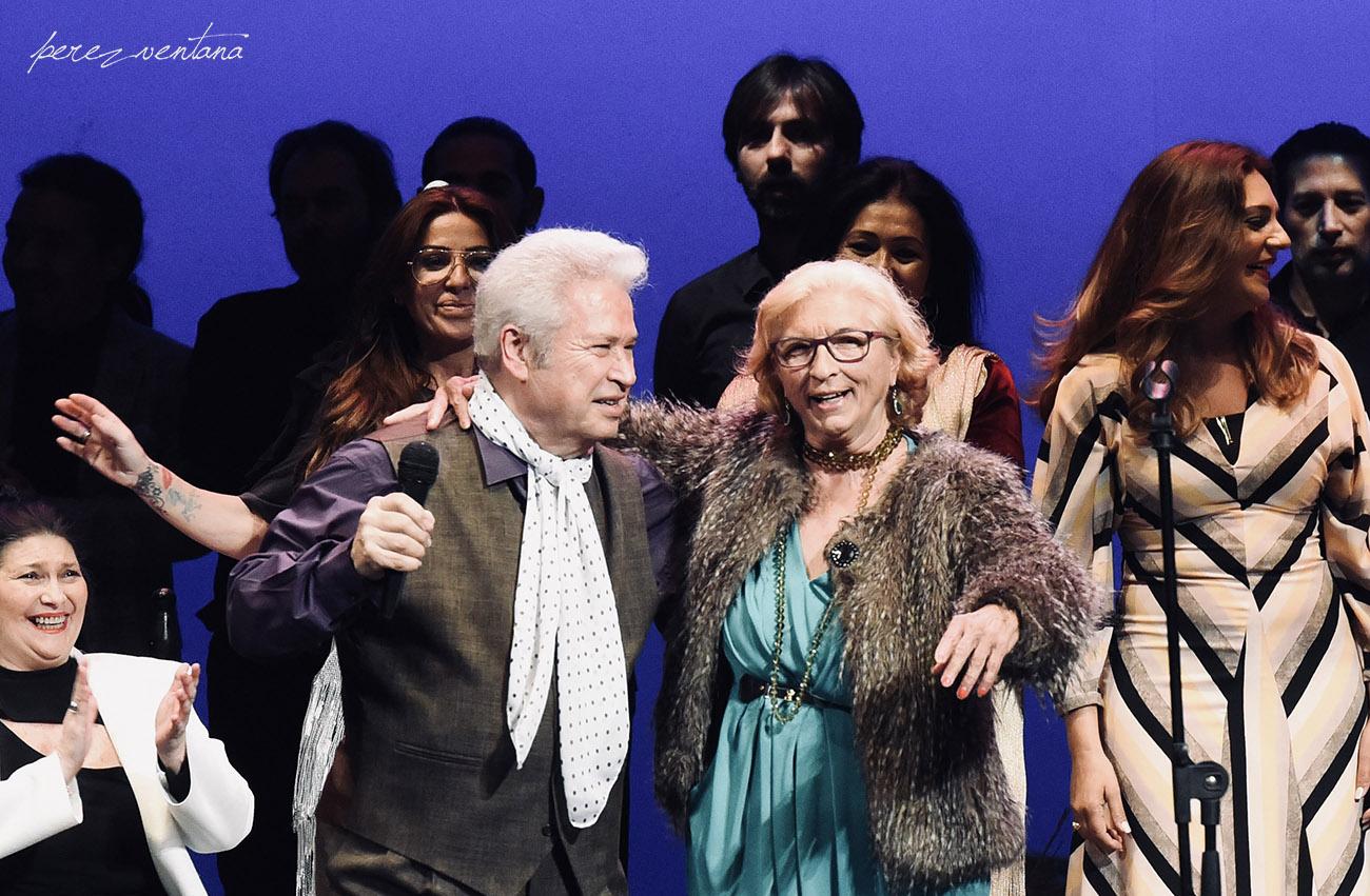 Con su esposa Eugenia de los Reyes. Homenaje a José Galván. Festival Tacón Flamenco de Utrera. 29 febrero 2020. Foto: perezventana