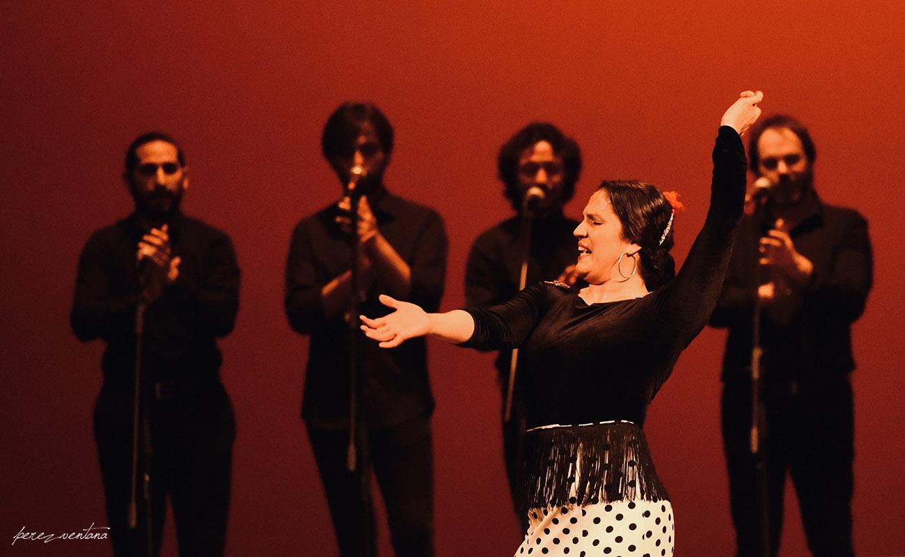 La bailaora Soraya Clavijo. Homenaje a José Galván. Festival Tacón Flamenco de Utrera. 29 febrero 2020. Foto: perezventana